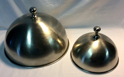 Silver metal dome serving lids
