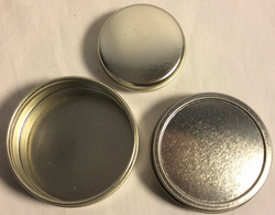 Round metal tins with lids - 3 sizes