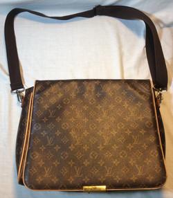 Beige Patterned Shoulder Bag