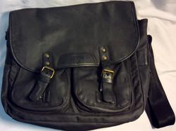 Fcuk Large black canvas shoulder bag