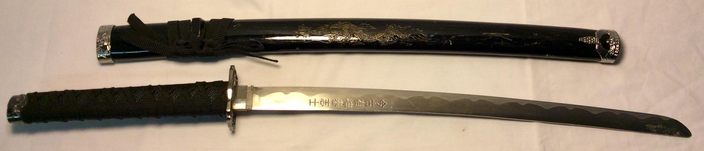 Stainless steel Wakizashi Sword