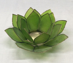 Stained glass lotus bowl