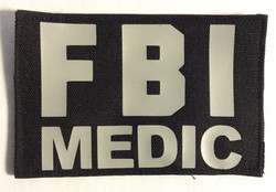 FBI Medic Velcro Patches, Silver