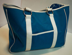 Bright blue and White Bag