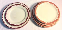 Vintage Diner round plates- x3 red, x8 rose