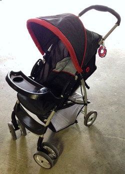 Black and Red Stroller