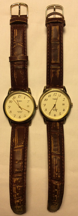 Timex watch - round white face