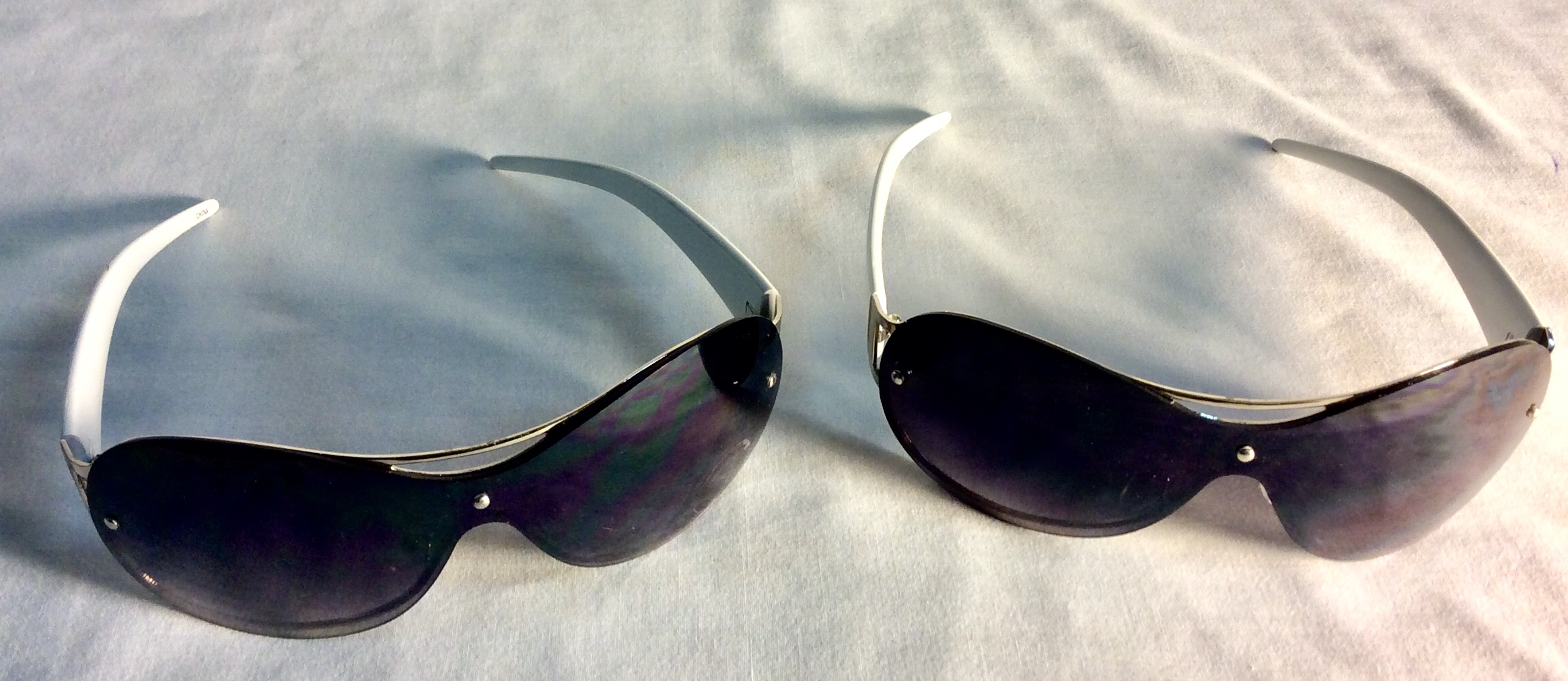 White and silver sunglasses