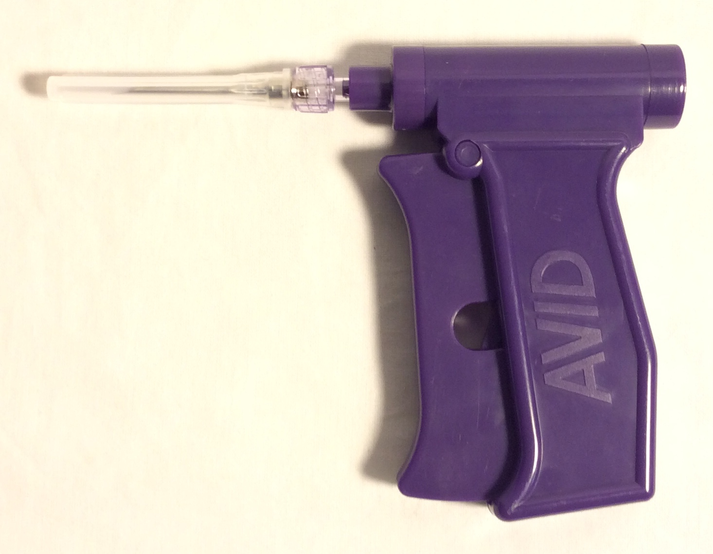 RFID implant guns, purple plastic