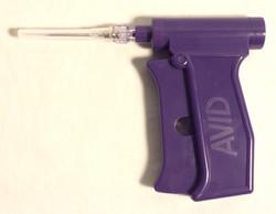 RFID implant guns, purple plastic