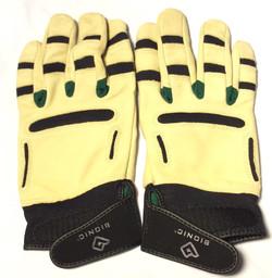 Bionic Cream leather gloves