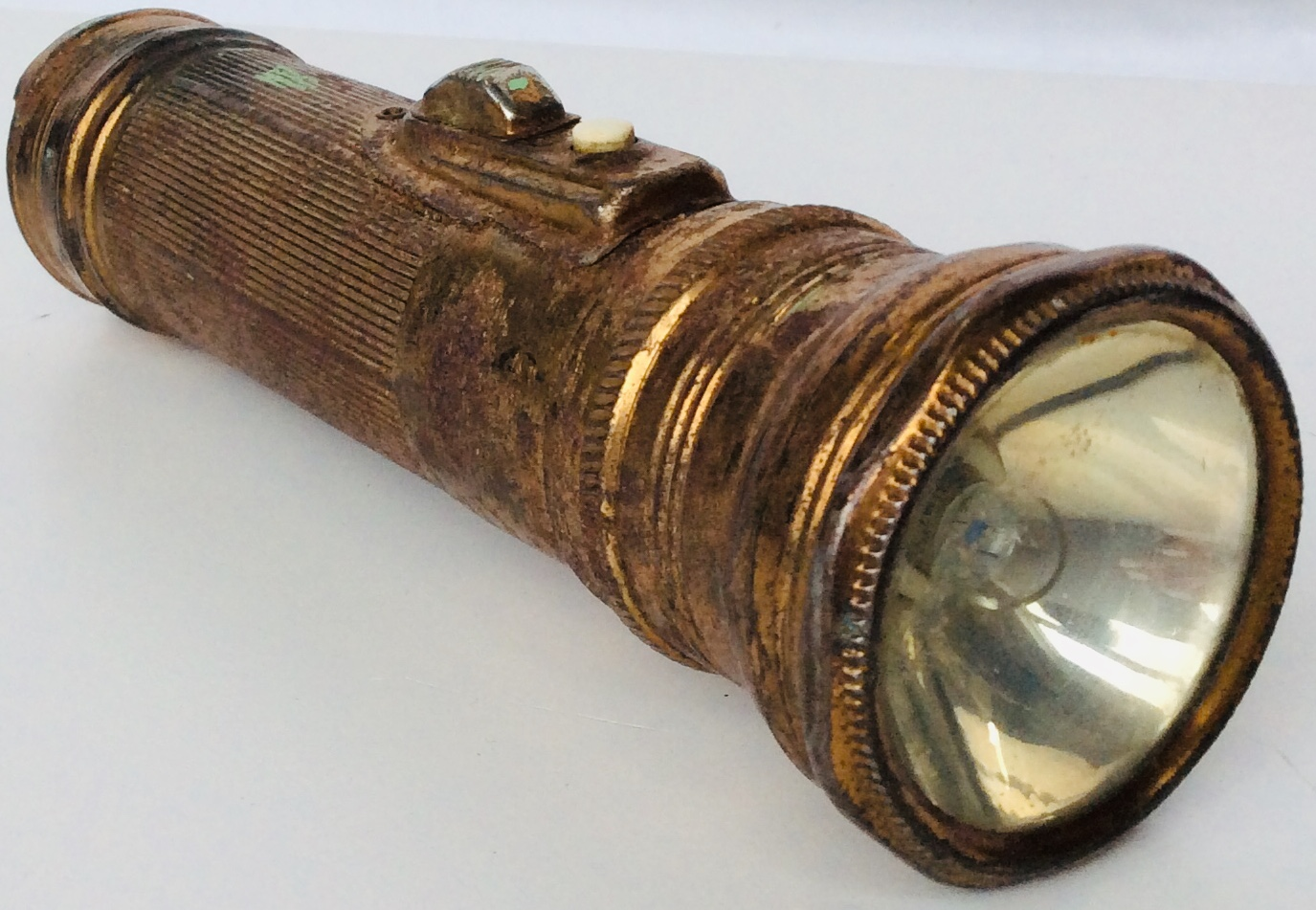 Vintage Copper Tunsten Flashlight (made in Hong Kong)