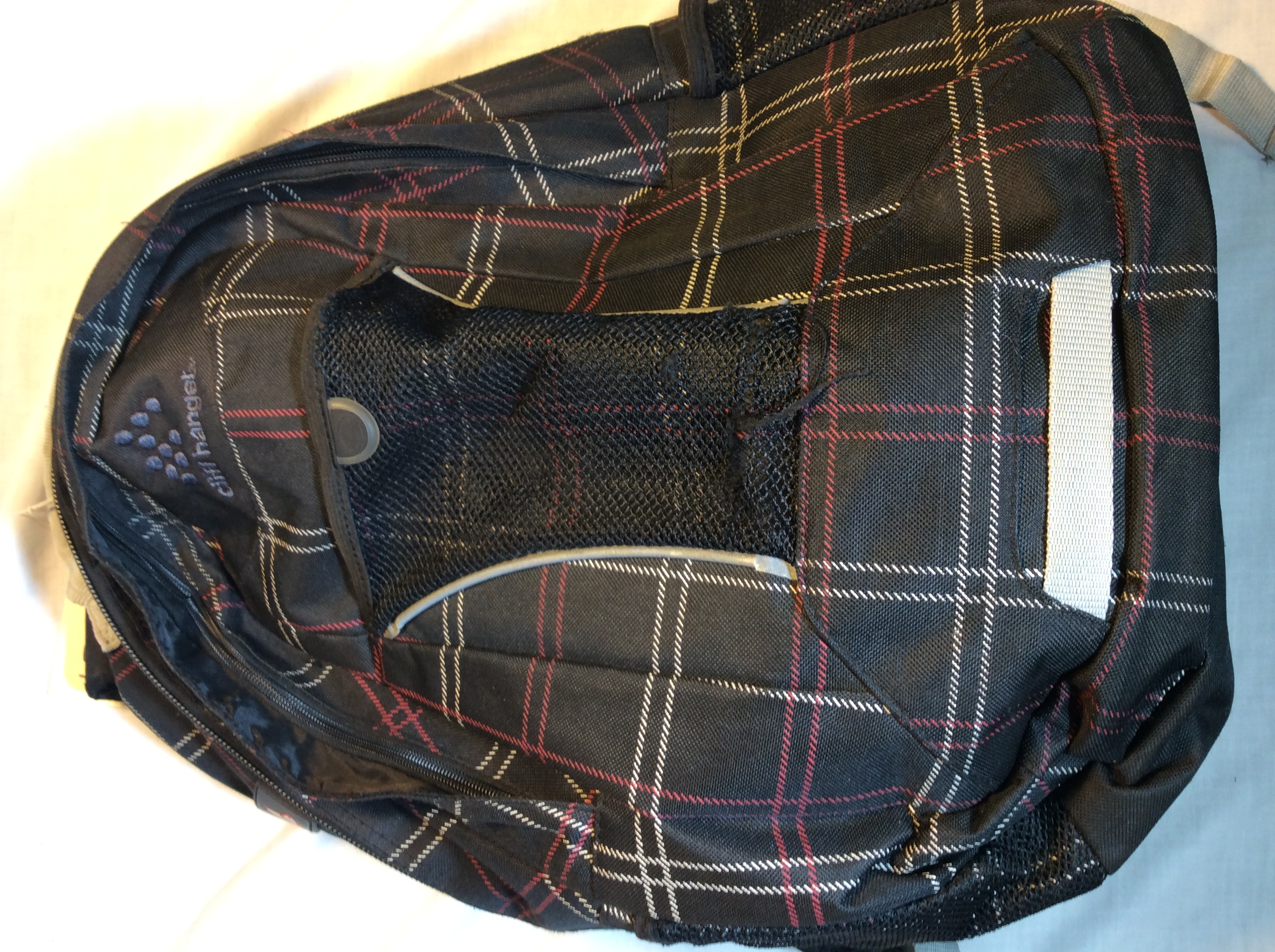 Cliffhanger black plaid pattern back