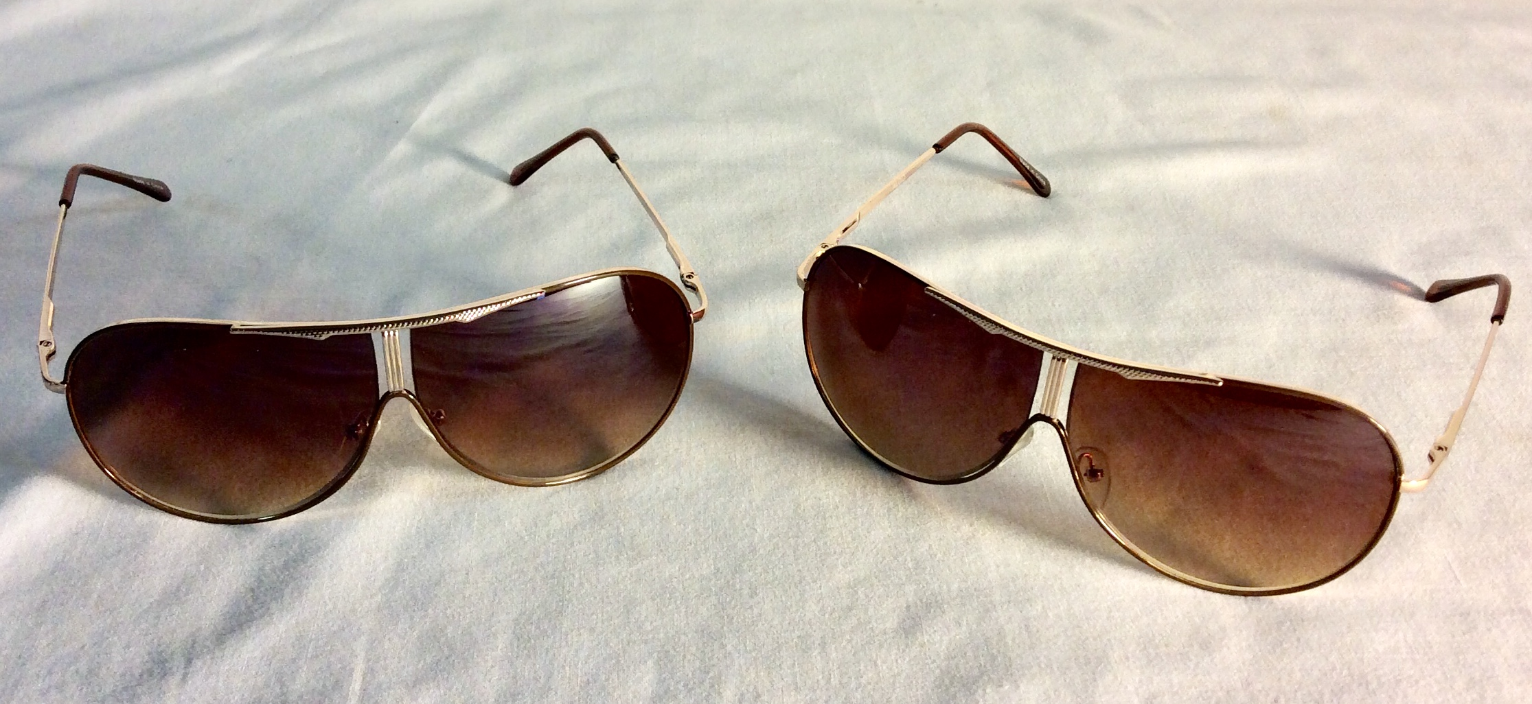 Bronze tinted sunglasses