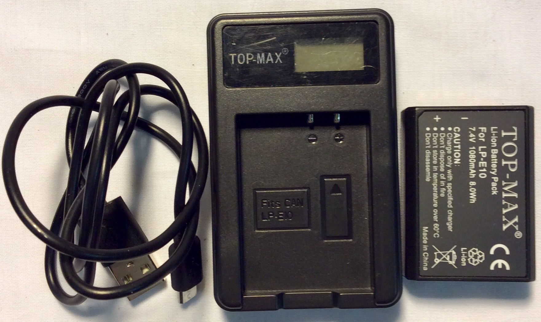 Top-Max batter charger, USB outlet
