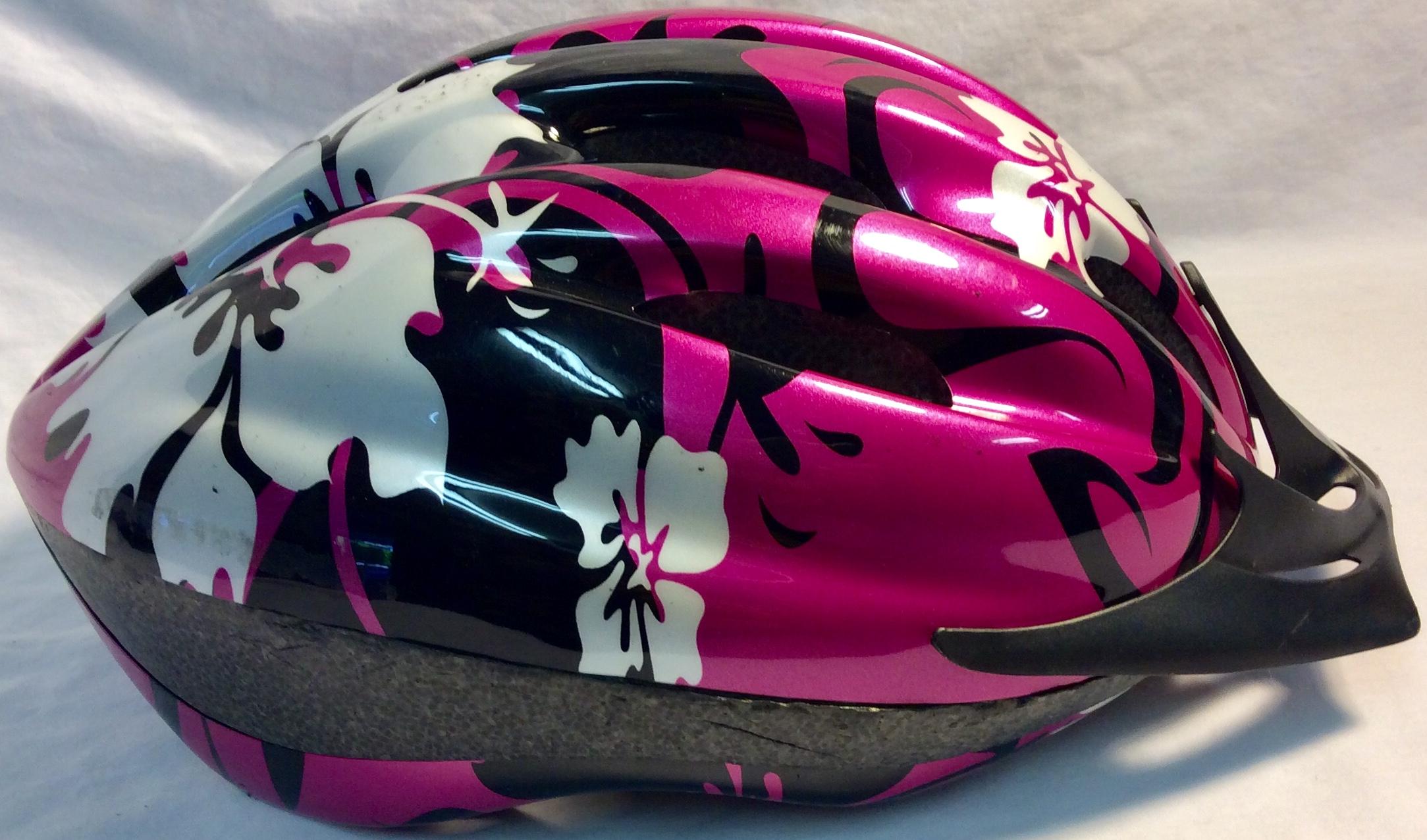 Bike helmet with flower details