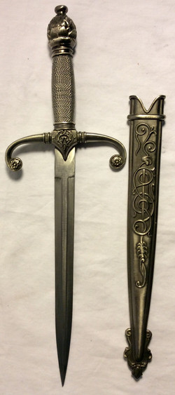 Stainless steel quillion dagger