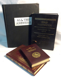 Assorted leather bound books
