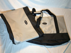TravelGear Gray and Black tote bags