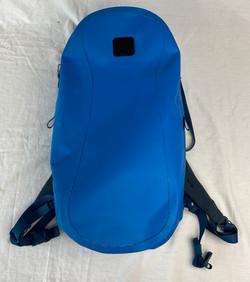 Blue fully waterproof backpack, large