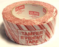 """Uline Red striped """"Tamper Evident"""