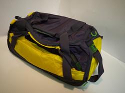 Blue/yellow/green gym bag
