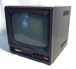 "Hyundai TV Monitor 1990 black metal case 9""x9"" cube"