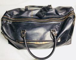 Black Leather Travel Bag
