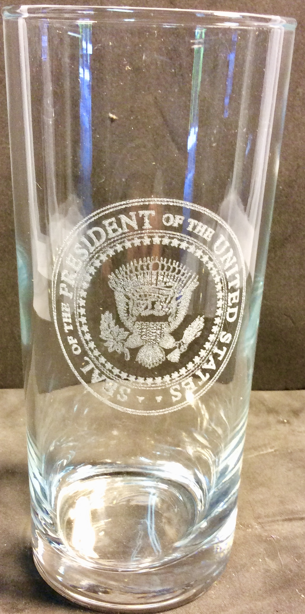 POTUS glass tall drinking glasses
