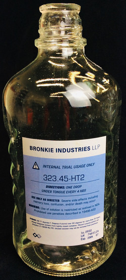 Chemical lab bottles