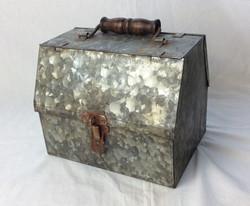 Small steel vintage toolbox