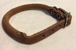 Dog collar brown leather
