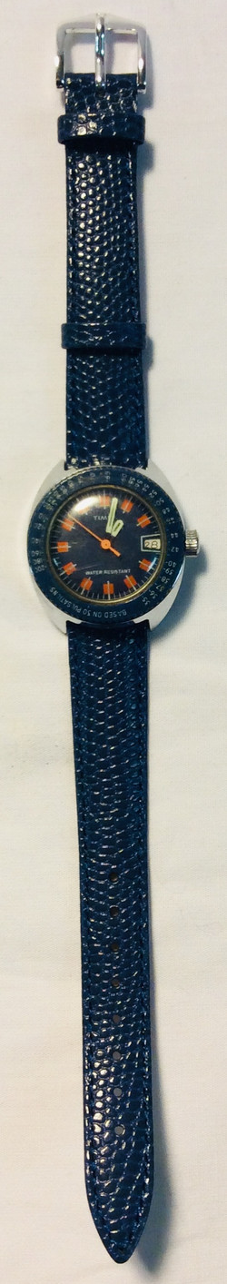 Timex Dark blue & red face