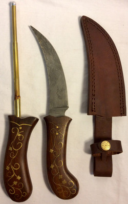 Kirpan style adaga with details on the blade and golden details on the handle. x2 real x2 VFX