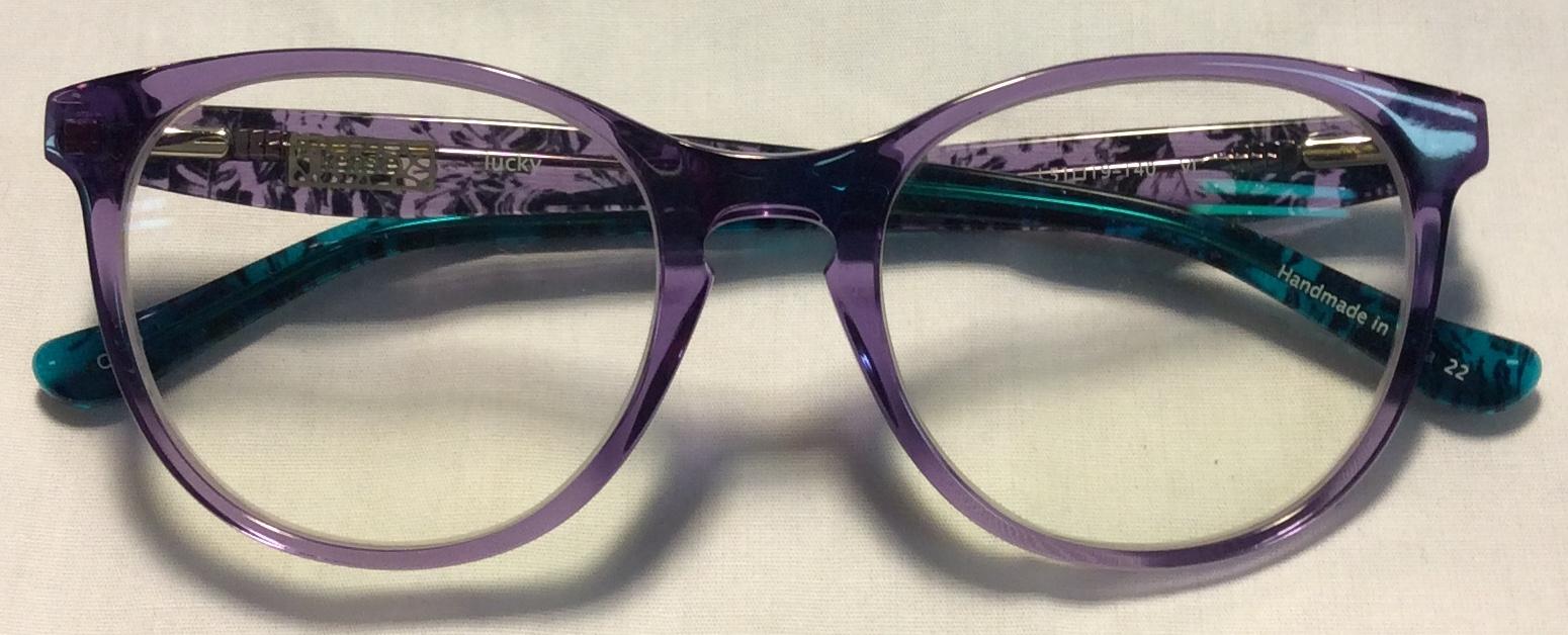Kensie Purple & turquoise plastic