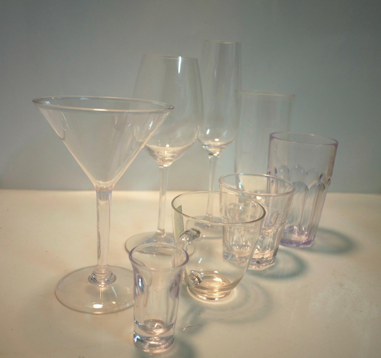 Acrylic glassware