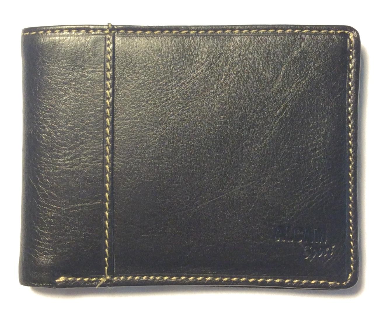 Black leather with beige medium