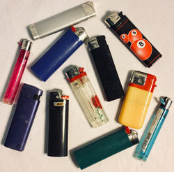 Assorted cheap lighters