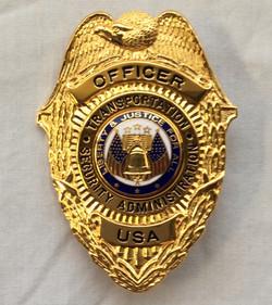 Gold Security, Transportation, Administration Officer Badge USA