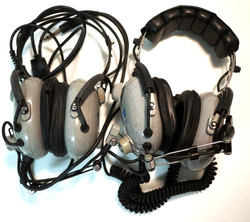 Grey Pilot Headset