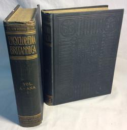 Set of old encyclopedias w/ engrave