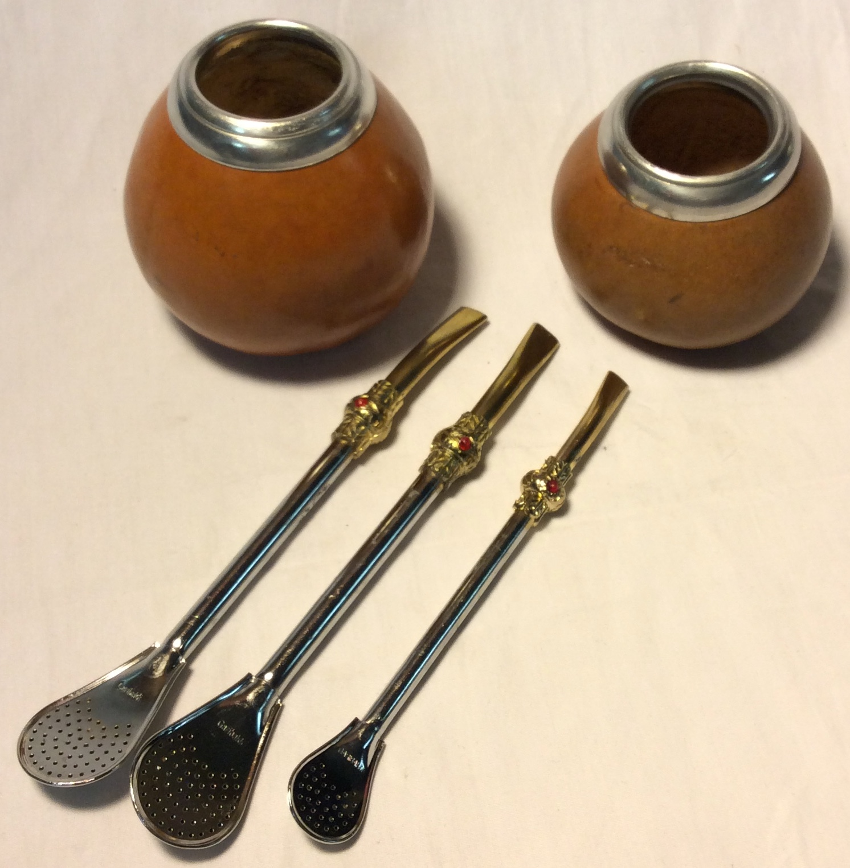 Yerba Mate gourd cups