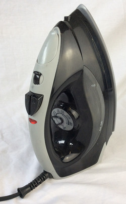 Black and grey plastic iron, functional