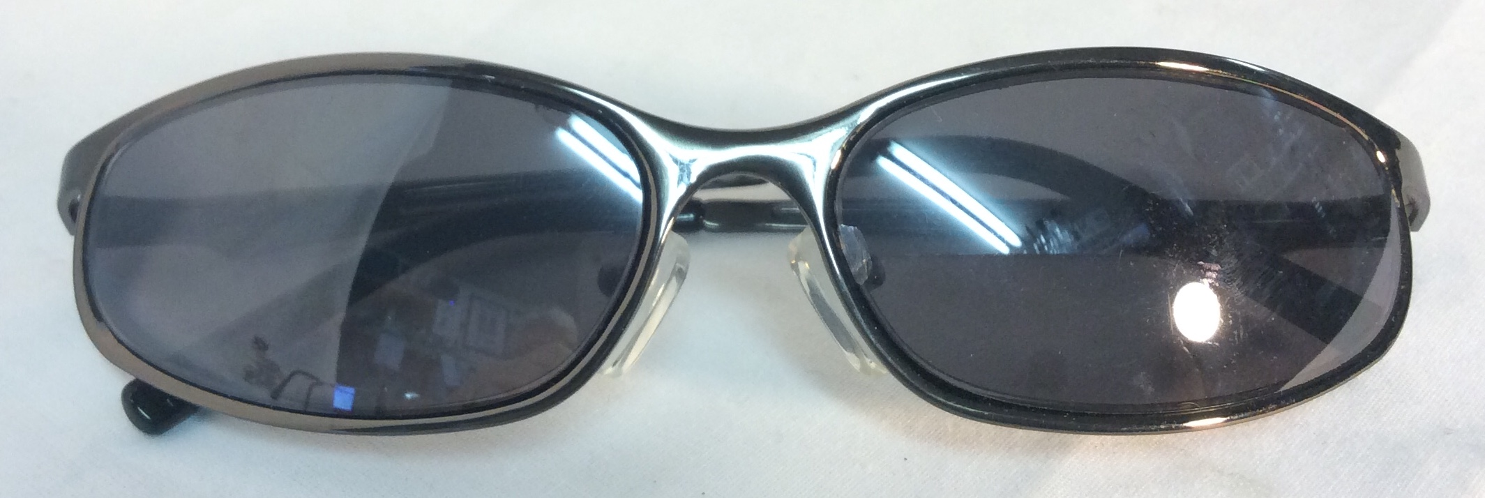 Dark chrome framed sunglasses