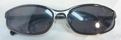 Dark chrome framed sunglasses