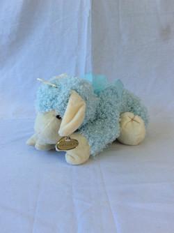 Blue lamb stuffed animal