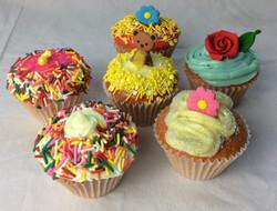 Assorted sprinkles cupcakes