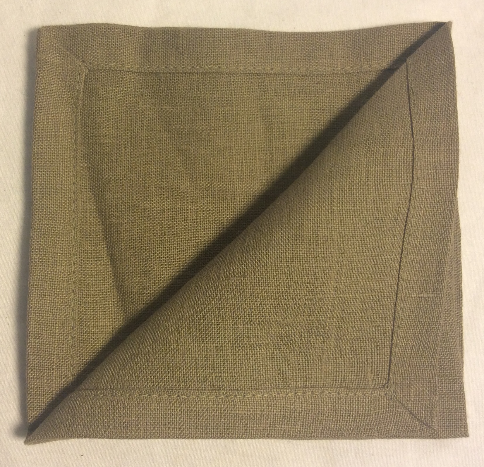 "Light Brown cloth napkins 10""x10"" - x6"