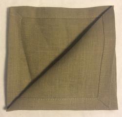 "Light Brown cloth napkins 10""x10"" - x6"