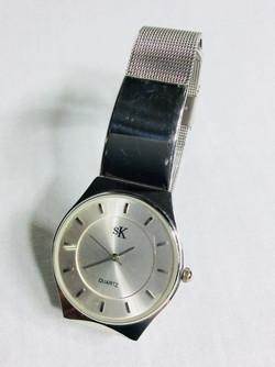 SK silver watch